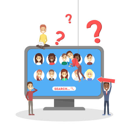 Recruitment concept banner. Idea of employment and human resources. Find candidate for a job. Vacant place. Isolated flat vector illustration Ilustrace