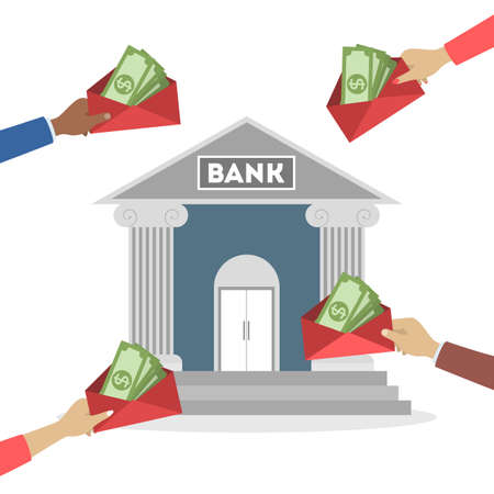 Concetto di banca. Idea di finanza, investimento di denaro