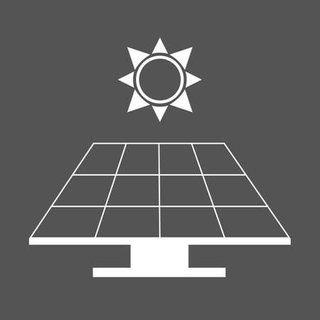 Solar panel alternative energy concept. Electricity power from the sun. Environment and ecology friendly. Flat vector illustration Ilustrace