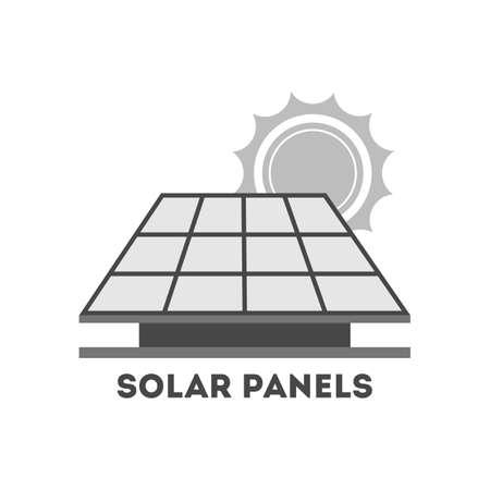 Solar panel alternative energy concept. Electricity power