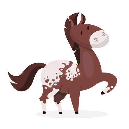 Horse wild or domestic animal. Brown mammal 版權商用圖片 - 121657968
