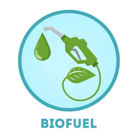Biolfuel concept. Idea of green oil and alternative fuel Illustration