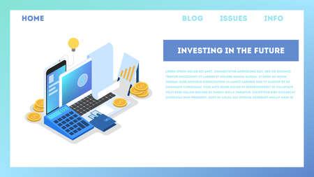 Illustration des Investitionskonzepts. Idee der finanziellen Unterstützung. Vektorgrafik