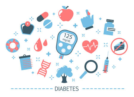 Diabetes concept. Measuring sugar in blood with glucometer