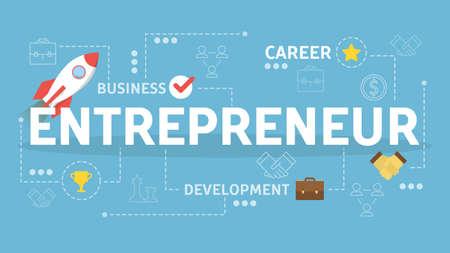 Entrepreneur concept. Idea of a business development