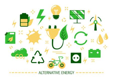 Alternative energy concept. Idea of ecolofy frinedly power