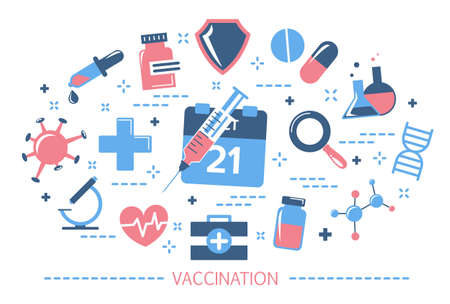 Vaccination concept. Idea of injection for disease prevention
