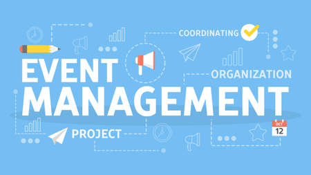 Event management concept. Idea of coordinating and planning meetings.