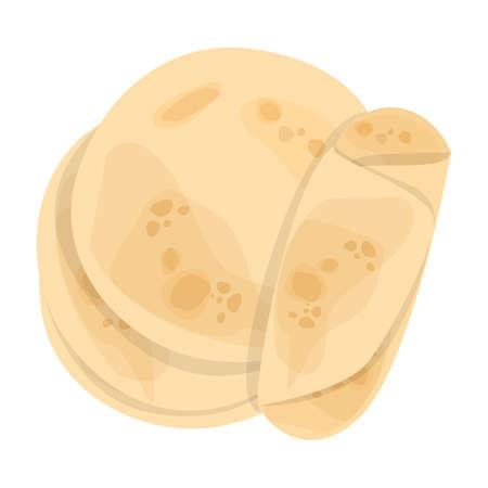 Pan de pita. Comida sabrosa, deliciosa comida hecha a mano. Tortilla fresca.