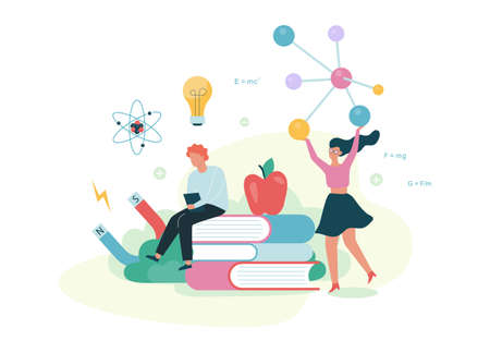 Physics concept. Idea of education and learning Illustration