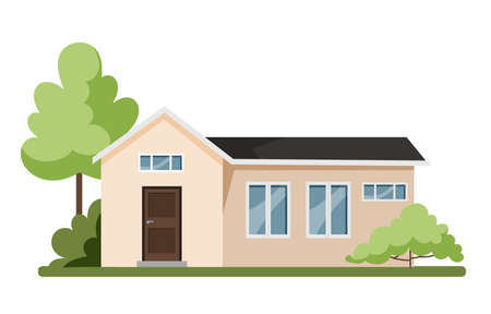 Cute cottage, modern architecture. Idea of real estate
