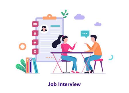 Job interview. Conversation between employer and candidate