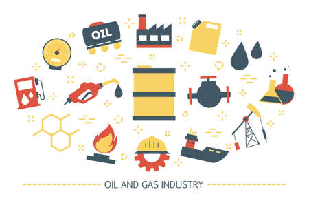Oil and gas industry concept. Fuel factory, barrel with diesel