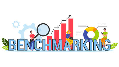 Benchmarking web banner concept. Idea of business Stock Illustratie