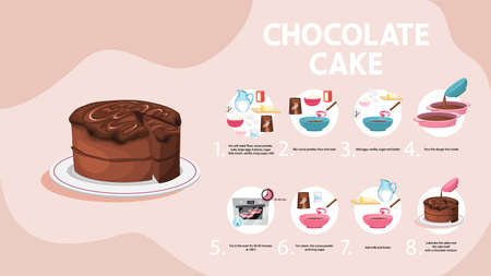 Easy cake with cream recipe for cooking at home