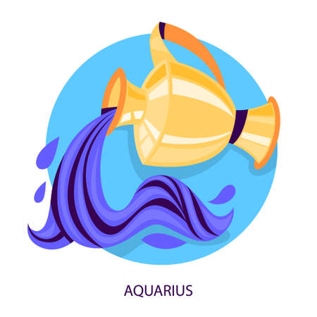 Aquarius zodiac sign. Astrology and horoscope calendar