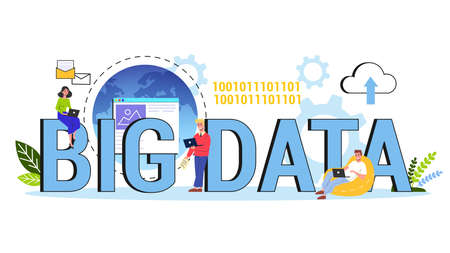 Big data concept. Modern computer technology. Analyzing