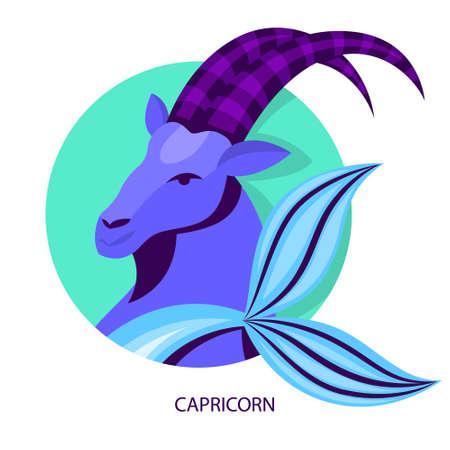 Capricorn zodiac. Astrology and horoscope concept. Symbol Иллюстрация