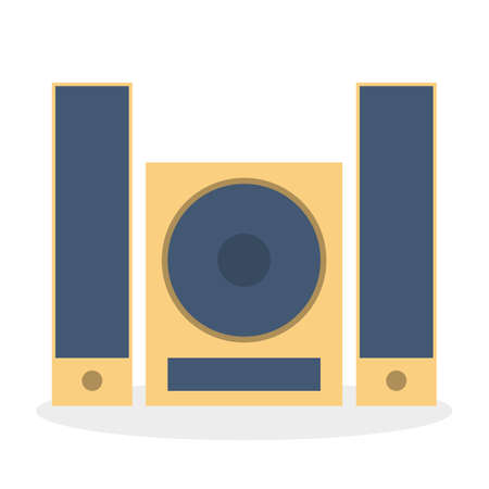 Stereo system icon, audio music player. Music center