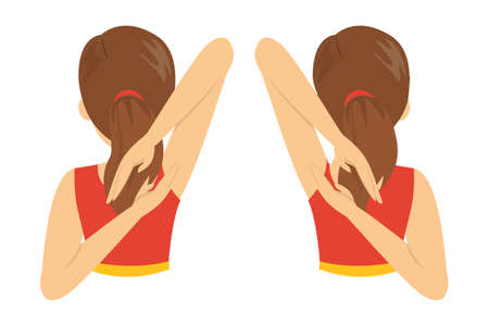 Shoulder wing span exercise. Stretch to relieve shoulder pain