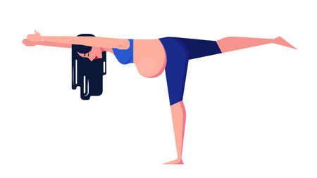Yoga for pregnant woman concept. Fitness and sport Ilustracja