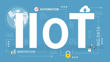 Industrial internet of things concept. Business automation