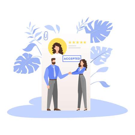 List of job candidate. Idea of employment and job interview Ilustração