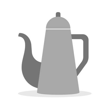 Kettle icon. Kitchen utensil for tea and coffee making