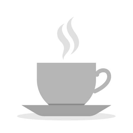 Coffee cup icon. Brown drink, morning beverage with sugar 일러스트