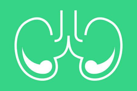 Kidney icon. Idea of urology system and nephrology