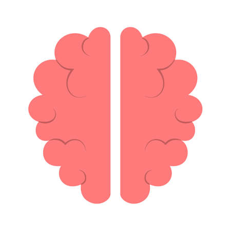 Brain icon. Symbol of intelligence and knowledge. Creative mind. Banque d'images - 129656079