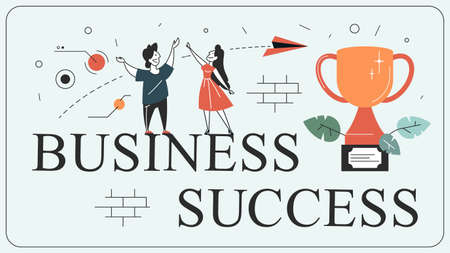 Success concept. Winning in competition. Getting reward Stock Illustratie