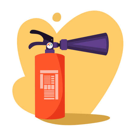 Red extinguisher. Emergency equipment for using in danger Stock Illustratie