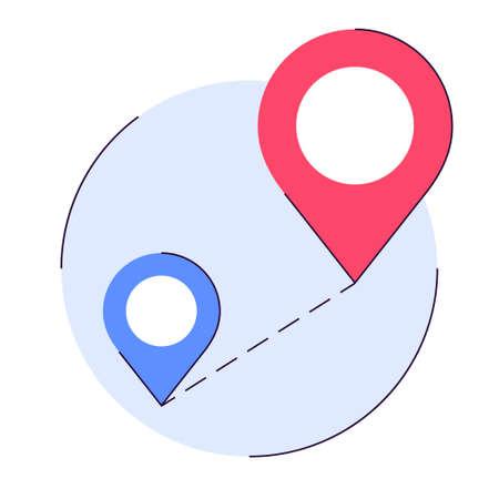 Mobile GPS navigation concept. Idea of modern technology