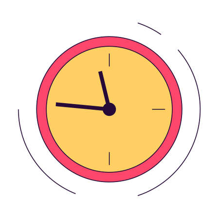 Clock icon. Idea of time and deadline. Circle shape of the wall Иллюстрация