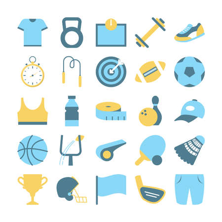 Sport equipment set. Collection of various object