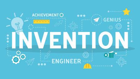 Innovation horizontal flat banner for your website