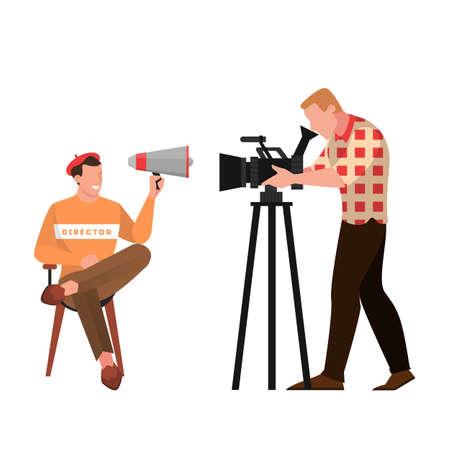 Film e regista seduto sulla sedia
