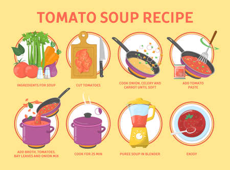 Tomato soup recipe. Cooking tasty food at home