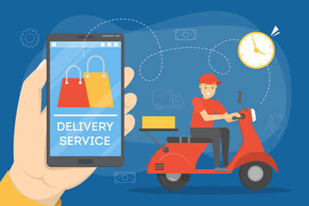 Online delivery concept. Food order in the internet