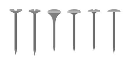 Nail set. Collection of the metal tool for home repair