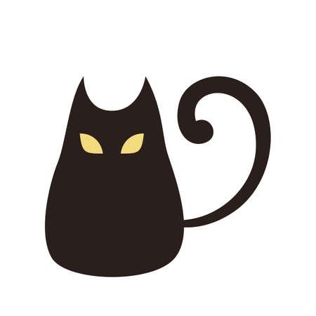 Black cat icon. Halloween symbol. Domestic pet Standard-Bild - 130161209