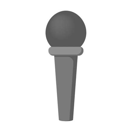Microphone icon. Audio technology, musical record symbol. Sound studio sign. Isolated vector illustration in flat style
