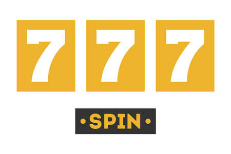 777 icon, slot machine. Symbol of jackpot and lucky game Stock Illustratie