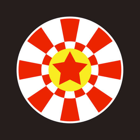 Casino roulette icon. Wheel of fortune, circle shape. Gamble Illustration