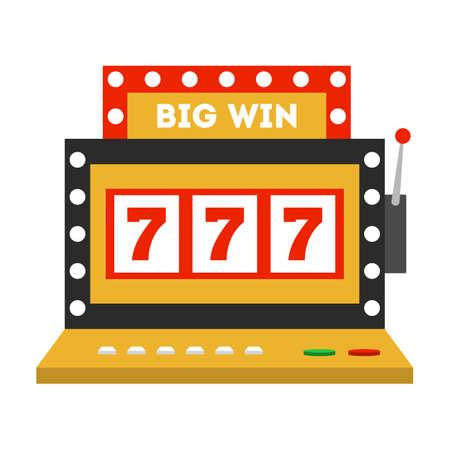 Casino machine icon. Game slot, jackpot chance