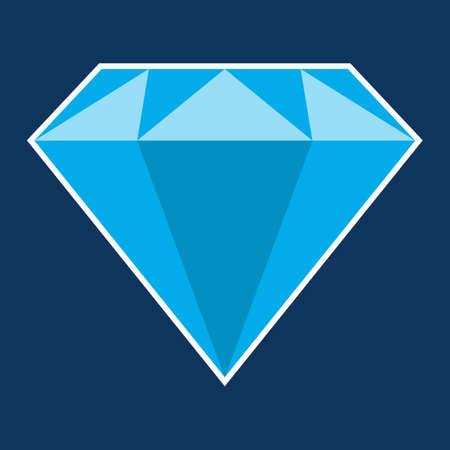 Diamond icon. Brilliant as symbl of luxury and jewelry