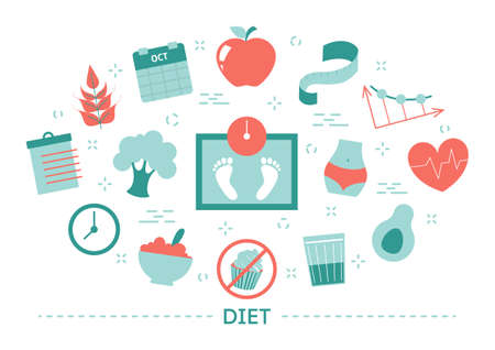 Diet concept. Idea of healthy nutrition and meal portion