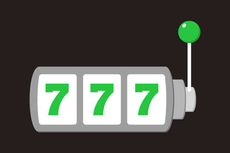 Slot machine and lucky seven on it. Casino jackpot