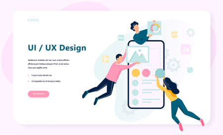 UX UI design. App interface improvement for user